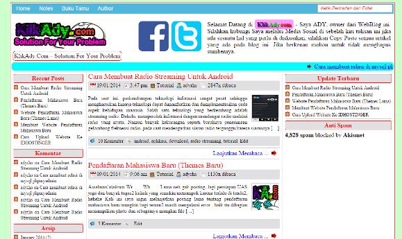 Themes WordPress Gratis Simpel dan Wow